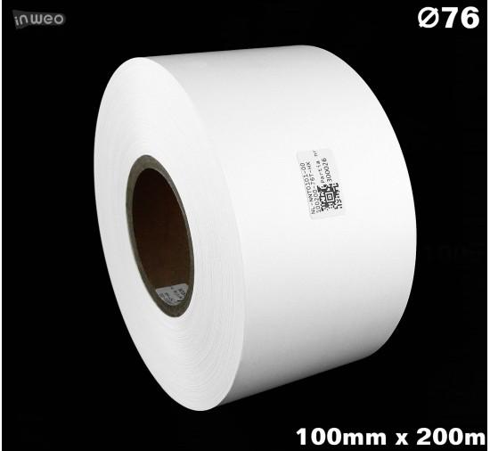 Taśma nylonowa dwustronna biała PREMIUM OekoTex 100mm x 200mb