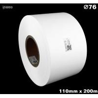 Taśma nylonowa dwustronna biała PREMIUM OekoTex 110mm x 200mb Materiały tekstylne