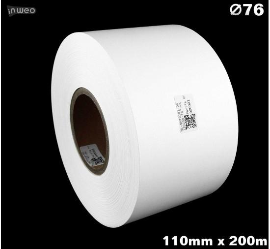 Taśma nylonowa dwustronna biała PREMIUM OekoTex 110mm x 200mb