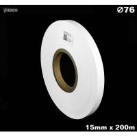 Taśma nylonowa dwustronna biała PREMIUM OekoTex 15mm x 200mb Materiały tekstylne