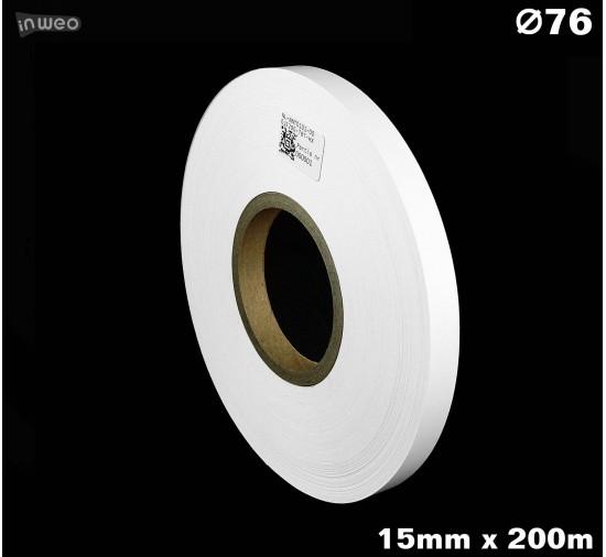 Taśma nylonowa dwustronna biała PREMIUM OekoTex 15mm x 200mb