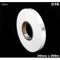 Taśma nylonowa dwustronna biała PREMIUM OekoTex 20mm x 200mb Materiały tekstylne