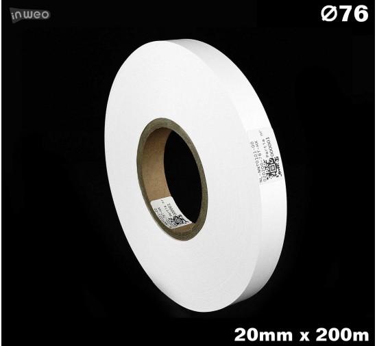 Taśma nylonowa dwustronna biała PREMIUM OekoTex 20mm x 200mb