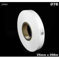 Taśma nylonowa dwustronna biała PREMIUM OekoTex 25mm x 200mb Materiały tekstylne