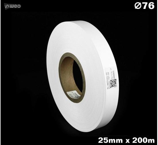 Taśma nylonowa dwustronna biała PREMIUM OekoTex 25mm x 200mb
