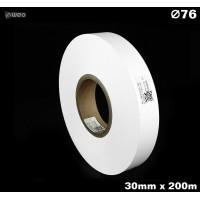 Taśma nylonowa dwustronna biała PREMIUM OekoTex 30mm x 200mb Materiały tekstylne