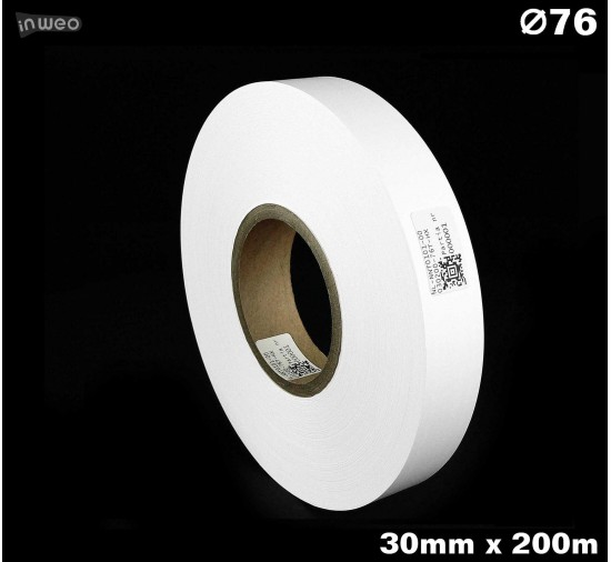 Taśma nylonowa dwustronna biała PREMIUM OekoTex 30mm x 200mb