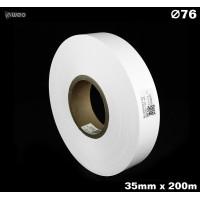 Taśma nylonowa dwustronna biała PREMIUM OekoTex 35mm x 200mb Materiały tekstylne