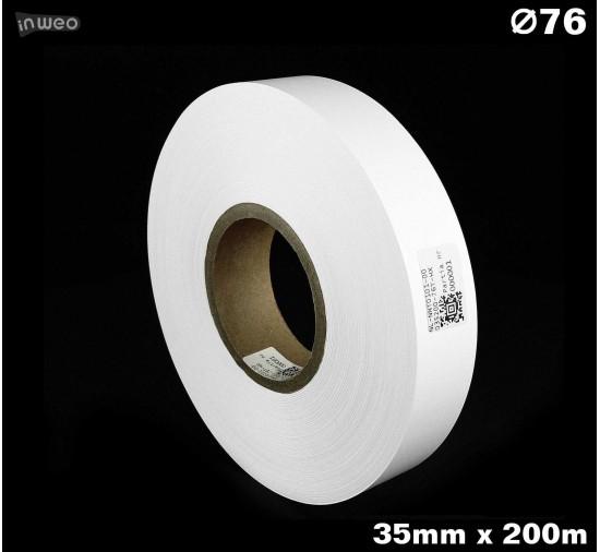 Taśma nylonowa dwustronna biała PREMIUM OekoTex 35mm x 200mb