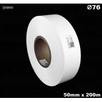 Taśma nylonowa dwustronna biała premium OekoTex 50mm x 200mb