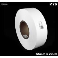 Taśma nylonowa dwustronna biała premium OekoTex 55mm x 200mb