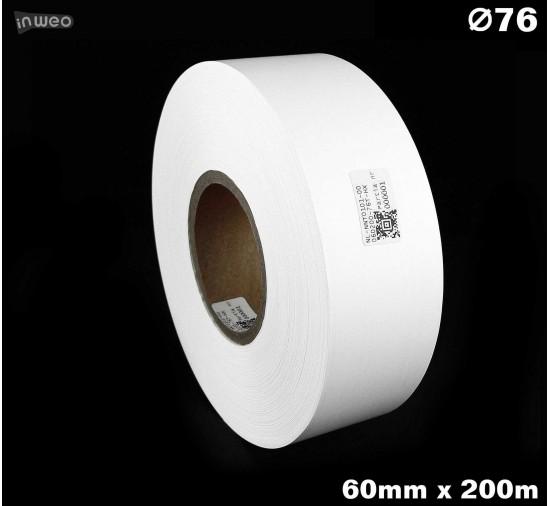 Taśma nylonowa dwustronna biała premium OekoTex 60mm x 200mb