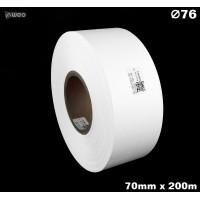 Taśma nylonowa dwustronna biała premium OekoTex 70mm x 200mb