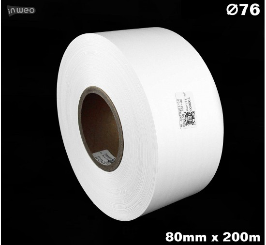 Taśma nylonowa dwustronna biała premium OekoTex 80mm x 200mb