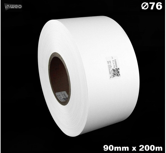 Taśma nylonowa dwustronna biała premium OekoTex 90mm x 200mb