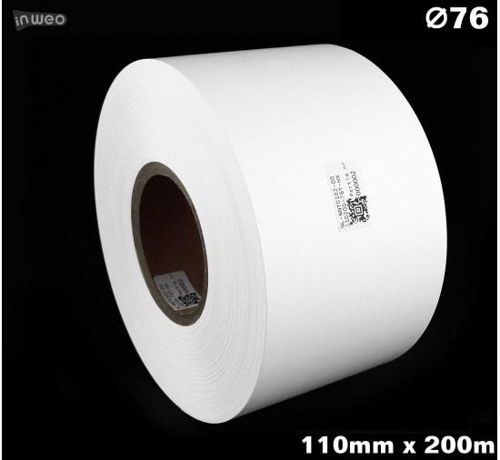 Taśma nylonowa dwustronna biała premium plus 110mm x 200mb