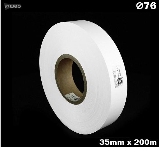 Taśma nylonowa dwustronna biała premium plus 35mm x 200mb