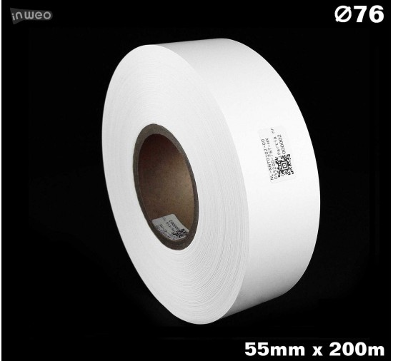 Taśma nylonowa dwustronna biała premium plus 55mm x 200mb