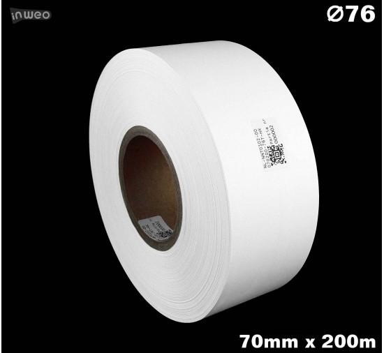 Taśma nylonowa dwustronna biała premium plus 70mm x 200mb
