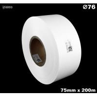 Taśma nylonowa dwustronna biała premium plus 75mm x 200mb