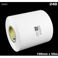 Taśma nylonowa dwustronna biała PREMIUM OekoTex 100mm x 50mb Materiały tekstylne