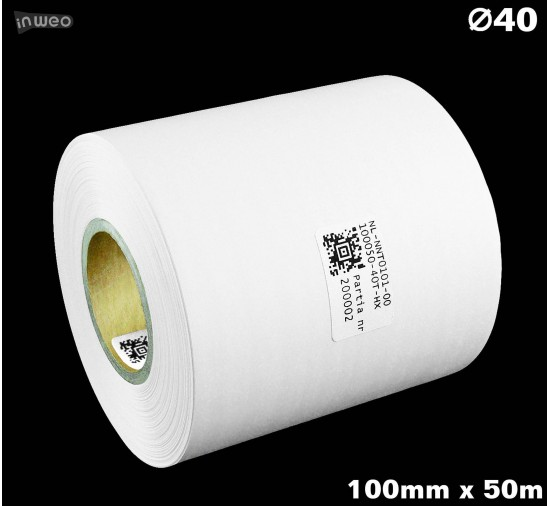 Taśma nylonowa dwustronna biała PREMIUM OekoTex 100mm x 50mb