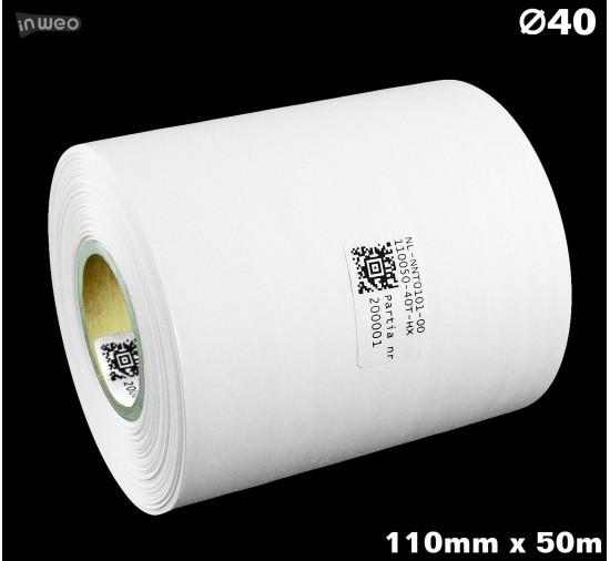 Taśma nylonowa dwustronna biała PREMIUM OekoTex 110mm x 50mb