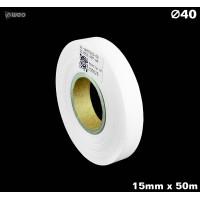 Taśma nylonowa dwustronna biała PREMIUM OekoTex 15mm x 50mb Materiały tekstylne