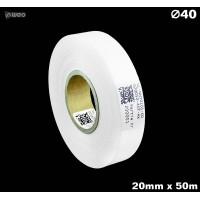 Taśma nylonowa dwustronna biała PREMIUM OekoTex 20mm x 50mb Materiały tekstylne