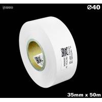 Taśma nylonowa dwustronna biała PREMIUM OekoTex 35mm x 50mb Materiały tekstylne
