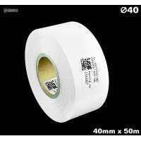 Taśma nylonowa dwustronna biała PREMIUM OekoTex 40mm x 50mb Materiały tekstylne