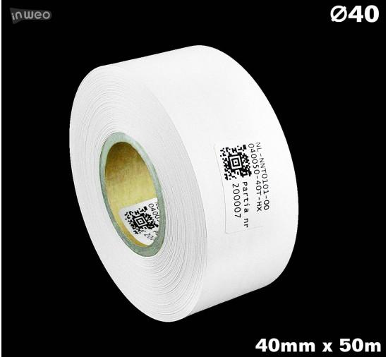 Taśma nylonowa dwustronna biała PREMIUM OekoTex 40mm x 50mb