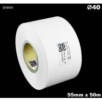 Taśma nylonowa dwustronna biała premium OekoTex 55mm x 50mb