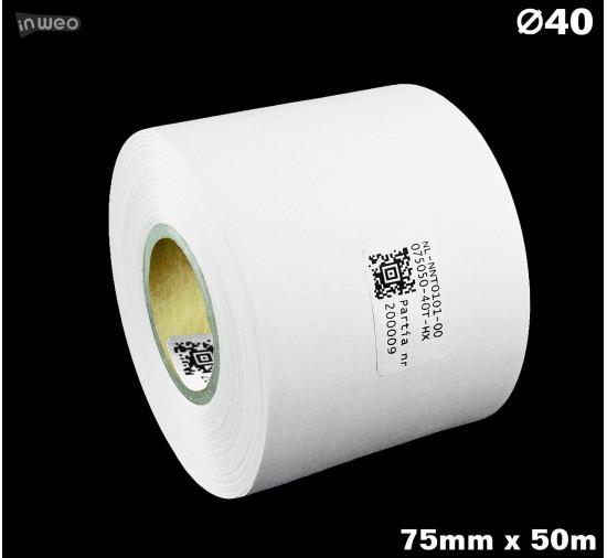 Taśma nylonowa dwustronna biała premium OekoTex 75mm x 50mb