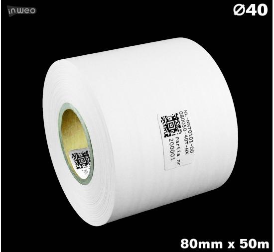 Taśma nylonowa dwustronna biała premium OekoTex 80mm x 50mb
