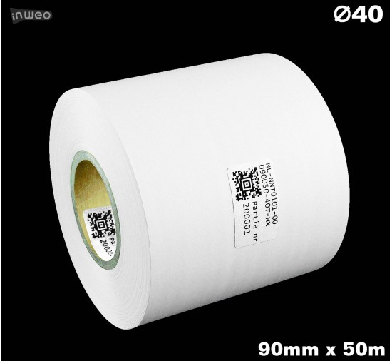 Taśma nylonowa dwustronna biała premium OekoTex 90mm x 50mb