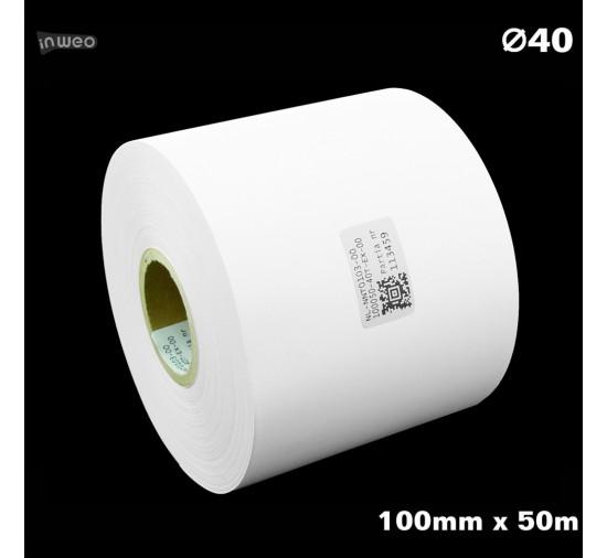 Taśma nylonowa do wprasowywania biała PREMIUM 100mm x 50mb