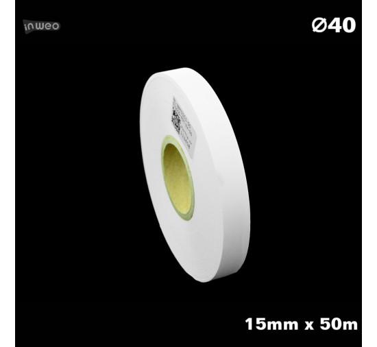 Taśma nylonowa do wprasowywania biała PREMIUM 15mm x 50mb