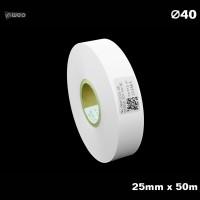 Taśma nylonowa do wprasowywania biała PREMIUM 25mm x 50mb Materiały tekstylne