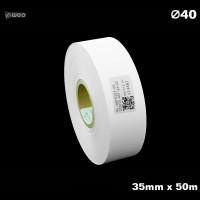 Taśma nylonowa do wprasowywania biała PREMIUM 35mm x 50mb Materiały tekstylne