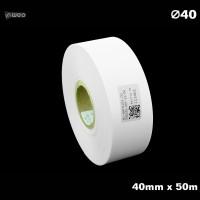 Taśma nylonowa do wprasowywania biała PREMIUM 40mm x 50mb Materiały tekstylne