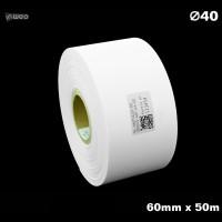 Taśma nylonowa do wprasowywania biała PREMIUM 60mm x 50mb Materiały tekstylne