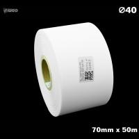 Taśma nylonowa do wprasowywania biała PREMIUM 70mm x 50mb Materiały tekstylne