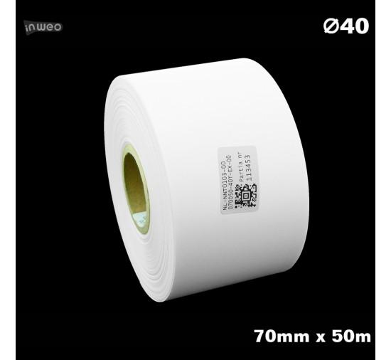 Taśma nylonowa do wprasowywania biała PREMIUM 70mm x 50mb