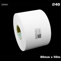 Taśma nylonowa do wprasowywania biała PREMIUM 80mm x 50mb Materiały tekstylne