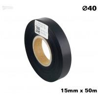 Czarna taśma satynowa premium 15mm x 50mb
