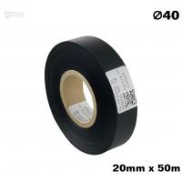 Czarna taśma satynowa premium 20mm x 50mb
