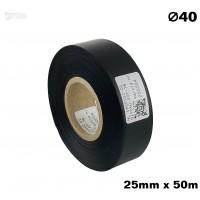 Czarna taśma satynowa premium 25mm x 50mb