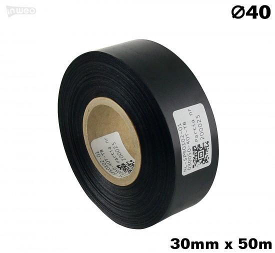 Czarna taśma satynowa premium 30mm x 50mb