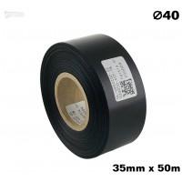Czarna taśma satynowa premium 35mm x 50mb